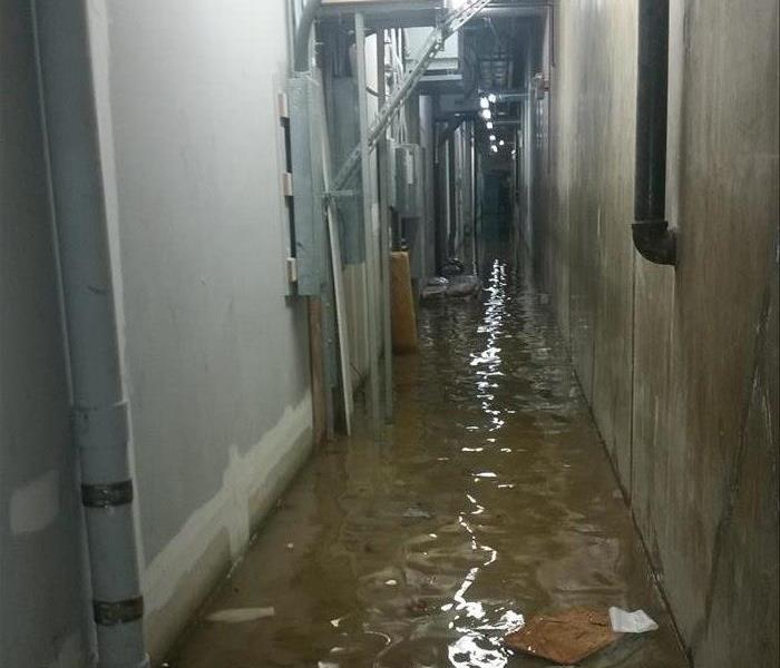 Flooded Hallway Before