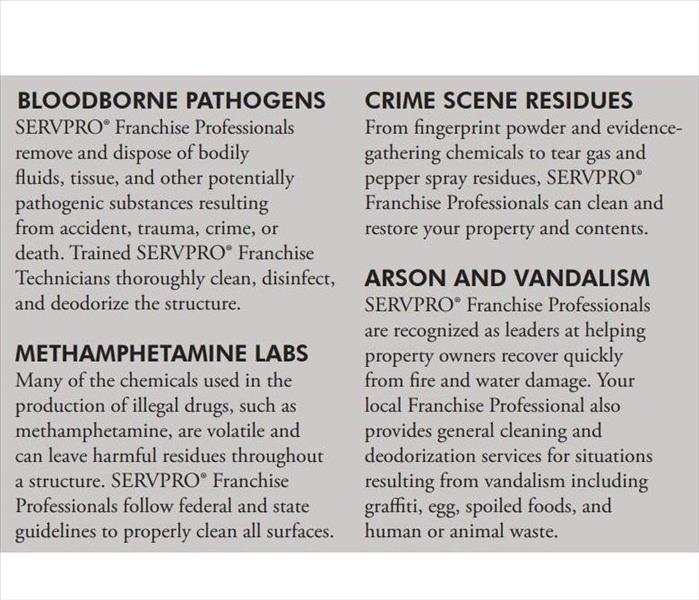 Commercial Biohazard, Crime Scene, and Vandalism Cleanup